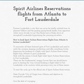 Spirit Airlines Reservations flights from Atlanta to Fort Lauder